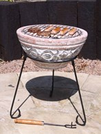 Small Clay Fire Bowl with BBQ