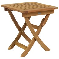 Small Garden Wooden Side Table Folding