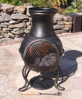 Small Steel Chimenea Patio Heater