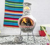 Sol Large Clay Chimenea