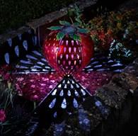 Solar Strawberry Garden Light