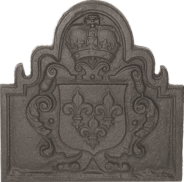 Solid Cast Iron Back Plate Crown Design