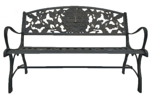 Solid Cast Iron Bench with Face Design