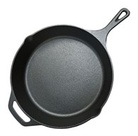 Solid Cast Iron Frying Pan with Lips