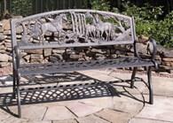 Solid Cast Iron Unicorn Bench