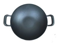 Solid Cast Iron Wok Rounded Pan
