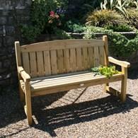 Three Seater Solid Wooden Garden Bench