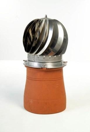 Stainless Steel or Terracotta Rotating Cowl