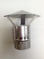 Stainless Steel Traveller Stove Rain Flue Cowl 100mm Diameter
