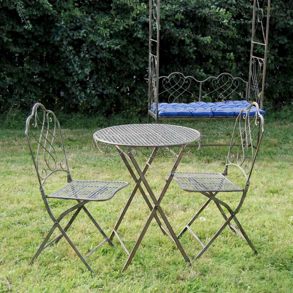 Antique Or Cream Bistro Set Garden Furniture Set Patio