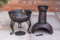 Steel Chimenea Converts to Barbeque