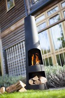 Steel Chimenea with Log Store