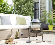 Steel Chimenea With Mesh Belly Two Sizes