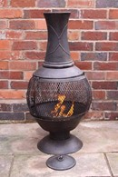 Steel Chimenea with Mesh Opening