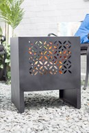 Steel Fire Pit Garden Heater with Cut Out Design