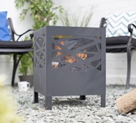 Steel Fire Pit with Mesh Cut Out Design