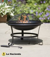 Steel Fire Pit with Mesh Guard