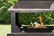 Large Steel Firepit with Log Holder Base