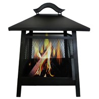 Steel Firepit with Mesh Design