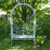 Steel Garden Arbour with Bench