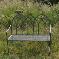 Steel Garden Bench a Lead Colour