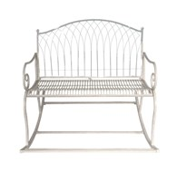 Steel Garden Rocker in Cream
