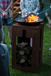 Steel Shabby Chic Firepit with Log Store Stand