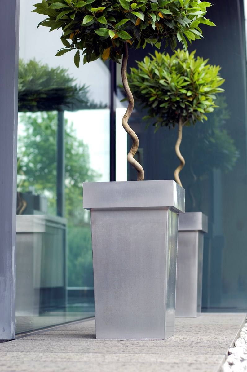 Steel Tall Stackable Plant Pots