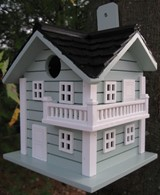 Surf City Beach House Bird Box Nesting House Blue