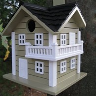 Surf City Beach House Bird Box Nesting House Green
