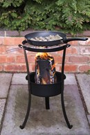 Swedish Style Log Burner with BBQ Grill