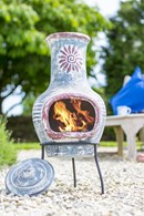 Blue Clay Chimenea
