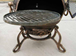 Swivel Cast Iron BBQ Grill for Chimeneas