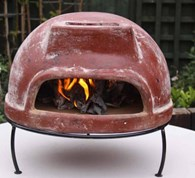 Table Top Clay Pizza Oven With Stand