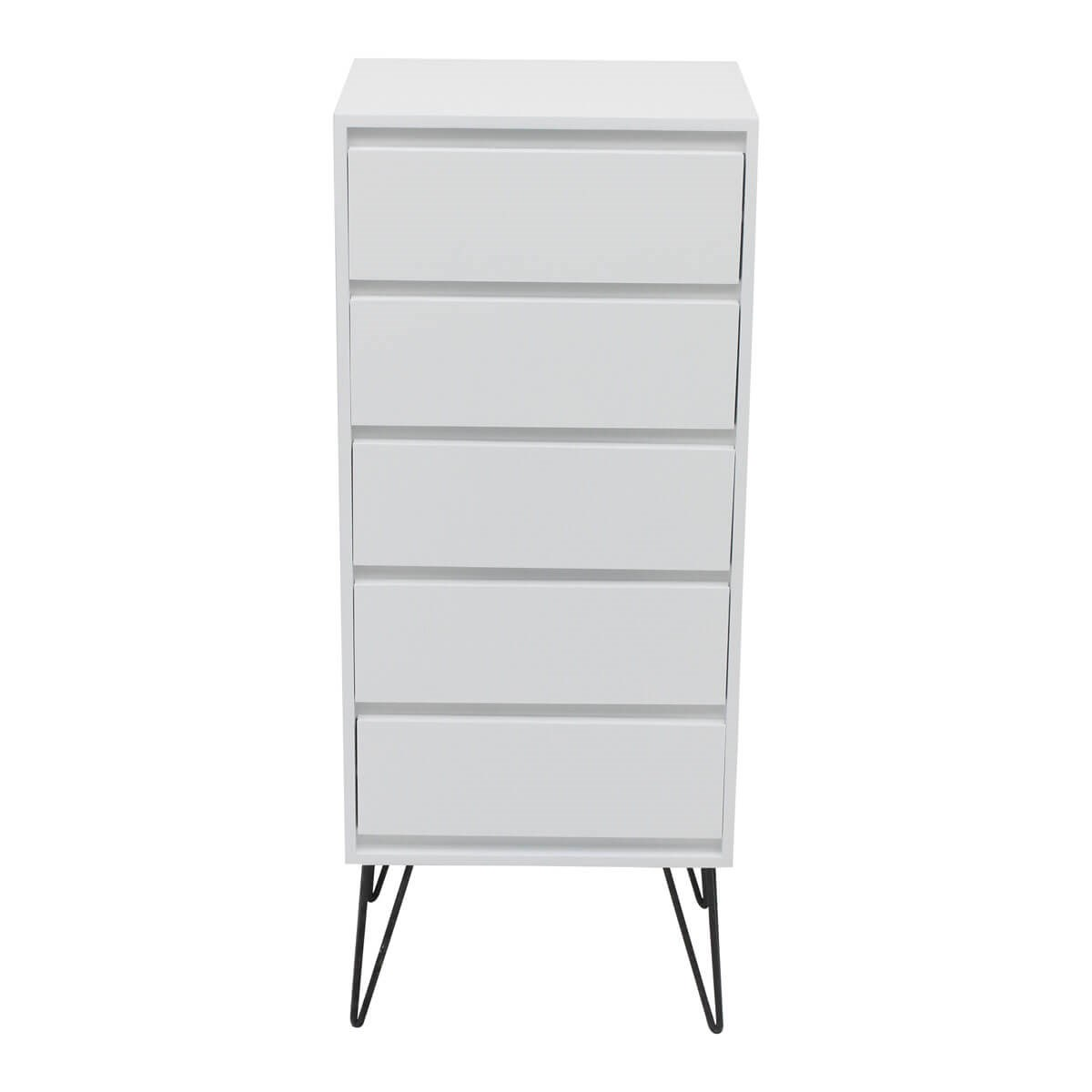 Tall Modern 5 Drawer Chest of Drawers