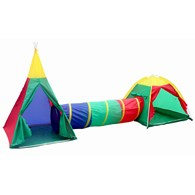 Tepee Tent with Tunnel and Dome Tent