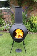 Thick Solid Cast Iron Chimenea and BBQ in one! Two Sizes