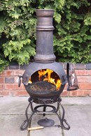 Toledo Cast Iron Chimenea Bronze