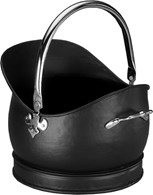 Traditional Coal Bucket with Chrome Handles