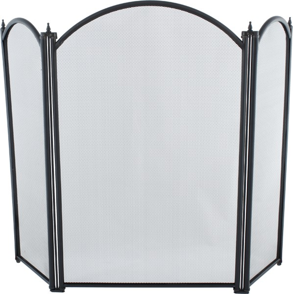 Traditional Fire Guard in Black 2 Sizes