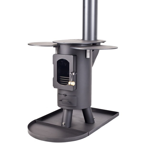 Traveller Stove Portable Outdoor Wood Burner Flat Black