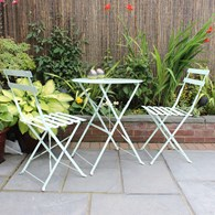 Two Person Folding Metal Bistro Set Various Colours