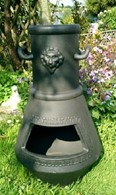 Unique Mythological Cast Iron Chimenea