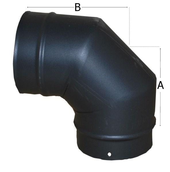 Various Degree Flue Angles 80mm Flue