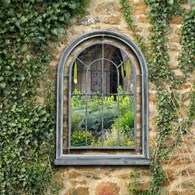 Vintage Style Garden Mirror