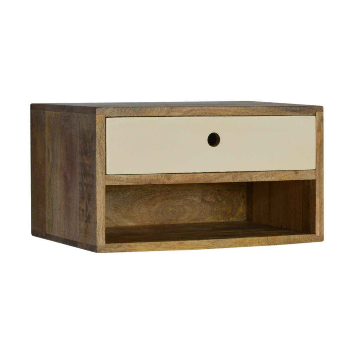 Wall Mounted Bedside Table with Shelf