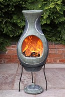 Water Inspired Clay Chimenea Three Sizes