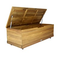 Wheeled Wooden Garden Storage Box