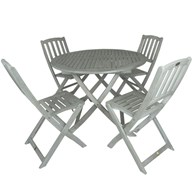 White Wash Folding Garden Table and Chairs