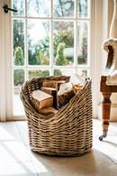 Wicker Kindling or Log Basket